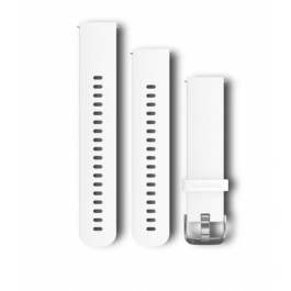 Garmin Quick Release Bands (20 mm) White with Silver Hardware