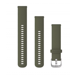 Garmin Quick Release Bands (20 mm) Moss with Silver Hardware