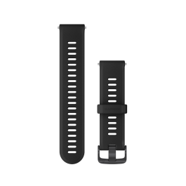 Garmin 745 Replacement Watch Strap Slate Hardware Band - Black