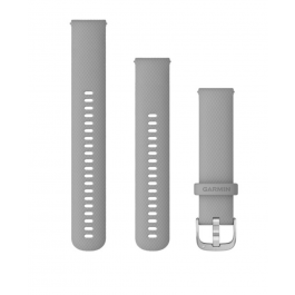 Garmin Quick Release Bands (20 mm) Powder Gray with Silver Hardware