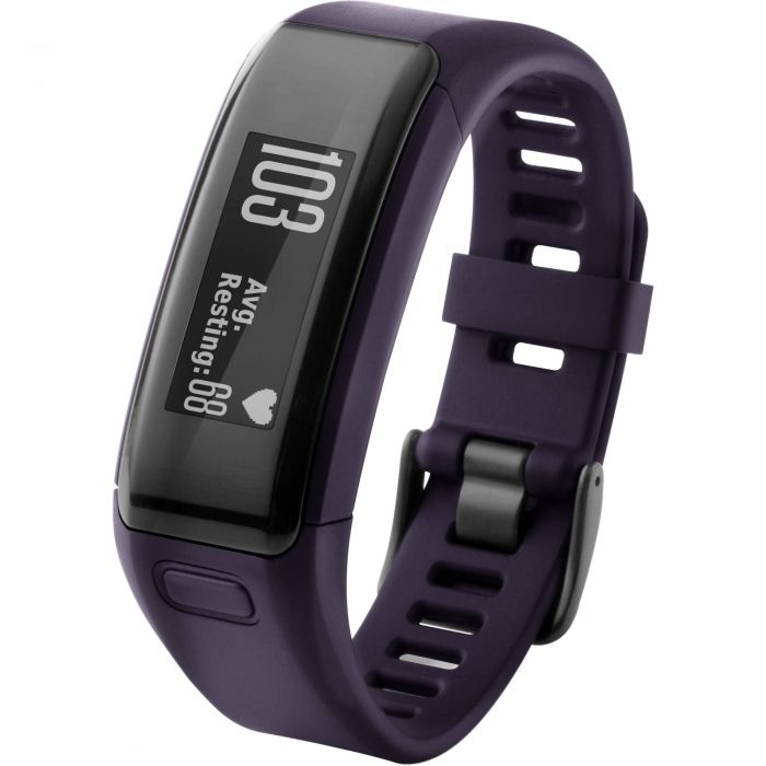 Purple and GPS Activity Tracker Garmin Vivosmart HR